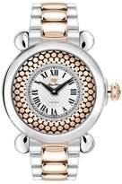 Glam Rock Women's Vintage 40mm Multicolor Two Tone Steel Bracelet Steel Case Swiss Quartz Watch GR28072