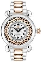Glam Rock Women's Vintage 40mm Two Tone Steel Case Swiss Quartz Watch Gr28072