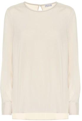 Brunello Cucinelli Stretch-silk blouse
