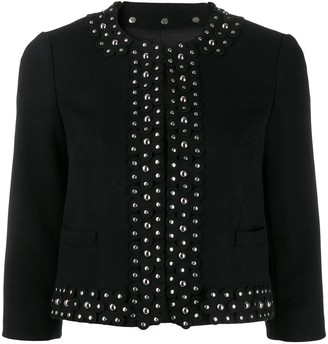 RED Valentino studded floral cropped jacket
