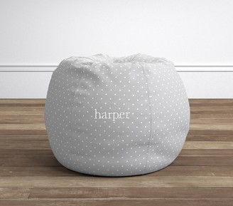 Pottery Barn Kids Gray Pin Dot Beanbag Slipcover Only