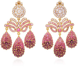 Sylvie Corbelin One-Of-A-Kind Tourmaline Chandelier Earrings