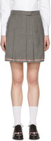 Thom Browne Grey Pleated Miniskirt