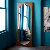 Curved Cutaway Floor Mirror