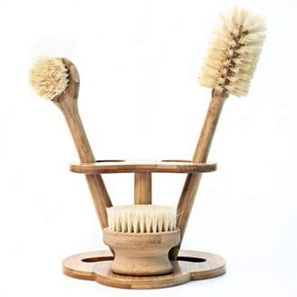 NatureZway Bamboo Kitchen Brush Cleaning Set in Natural