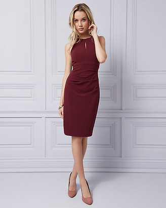 Le Château Knit Crepe Halter Dress