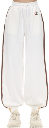 Gucci Gg Logo Techno Jersey Turchon Sweatpants