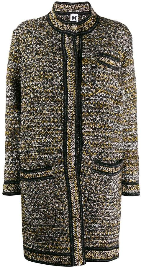 M Missoni tweed miid coat