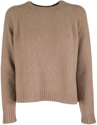 Max Mara Amici Crew Neck Sweater In Alpaca Camel