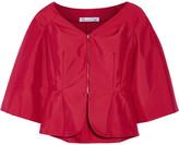 Oscar de la Renta Cotton-blend taffeta jacket