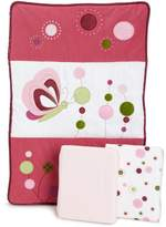 Lambs & Ivy Raspberry Swirl Mini Crib Set
