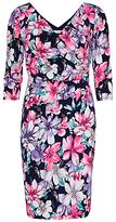 Gina Bacconi Floral Jersey Wrap Dress, Navy