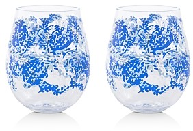 Lilly Pulitzer Turtley Awesome Acrylic Wine Glasses, Set of 2