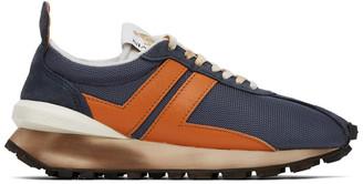 Lanvin Blue and Orange Bumper Sneakers