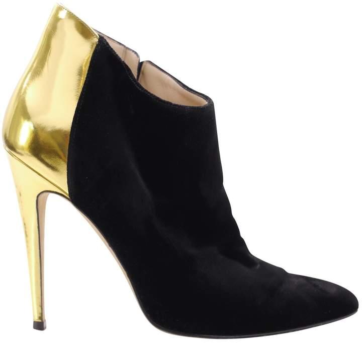 Manolo Blahnik Velvet ankle boots