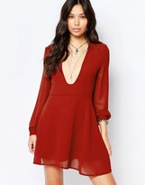 Glamorous Long Sleeve Tea Dress