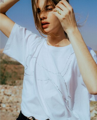 The Kooples Floaty white top with Puma logo