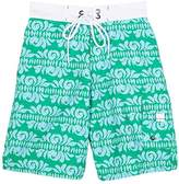 Snapper Rock GEOMETRIC-PRINT SWIM TRUNKS
