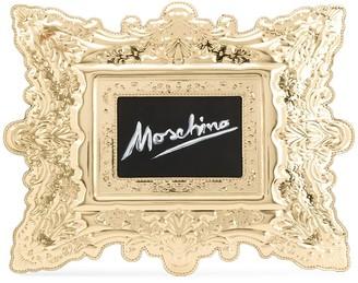 Moschino Frame metallic clutch