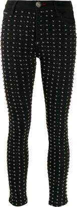 Philipp Plein stud embellished skinny jeans