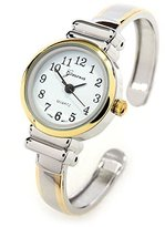 FTW 2Tone Metal Band Petite Size Women's Bangle Cuff Watch