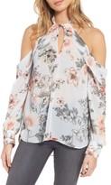 Bardot Women's Tie Neck Cold Shoulder Top