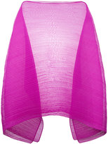 Pleats Please By Issey Miyake oversize plain sheer cape
