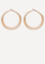 Bebe Spiral Hoop Earrings