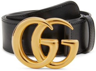 Gucci GG Logo Buckle Leather Belt