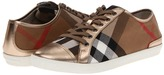 Burberry Check Canvas Trainers (Pale Gold) - Footwear