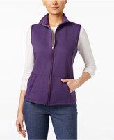 Karen Scott Quilted Zip-Front Vest, Only at Macy's
