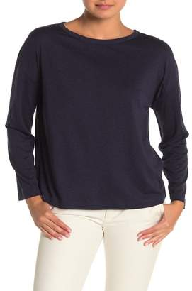 Vince Boatneck Long Sleeve Slub T-Shirt