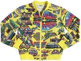Moschino Printed Mesh Bomber Jacket