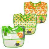 I Play green sprouts® 3-Pack Forest Waterproof Bibs in Green