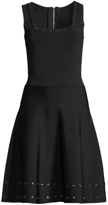 Milly Grommet Fit-&-Flare Dress