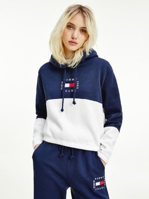 Tommy Hilfiger Colour-Blocked Cropped Hoody