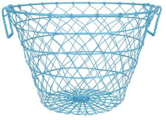 A&B Home Leonora Wire Basket, Light Blue