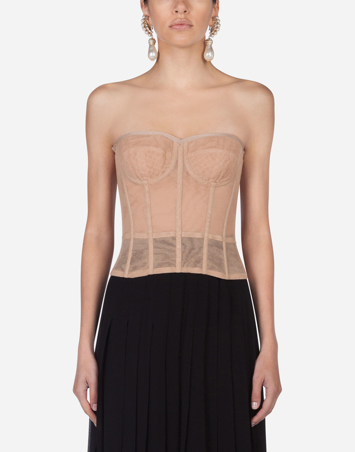 Thumbnail for your product : Dolce & Gabbana Tulle bustier
