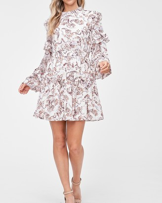 Express En Saison Paisley Printed Mini Dress