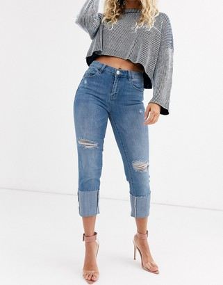 Lipsy turn up slim jeans-Blue