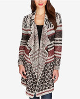 Lucky Brand Mixed-Print Striped Cardigan