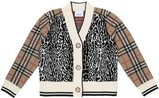 BURBERRY KIDS Vintage Check merino wool cardigan