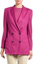 Agnona Cashmere Twill Double-Breasted Blazer Jacket