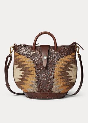 Ralph Lauren Leather-Trim Tote
