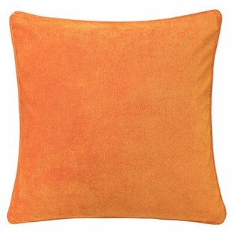 The Holiday Aisle Chasity Shiny Striped Throw Pillow Color: Orange