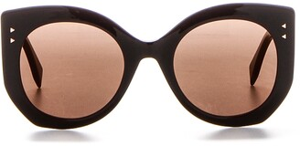 Fendi Eyewear Engraved Lettering Sunglasses