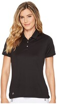 adidas Performance Short Sleeve Polo (Black) Women's Short Sleeve Knit