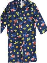 Super Mario Big Boys Blue Cartoon Printed 2 Pc Pajama Set