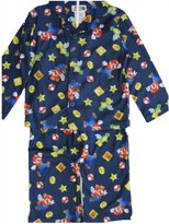 Super Mario Little Boys Cartoon Inspired Print 2 Pc Sleepwear Set