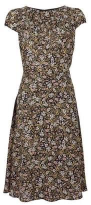 Dorothy Perkins Womens **Billie & Blossom Tall Black Disty Print Skater Dress, Black